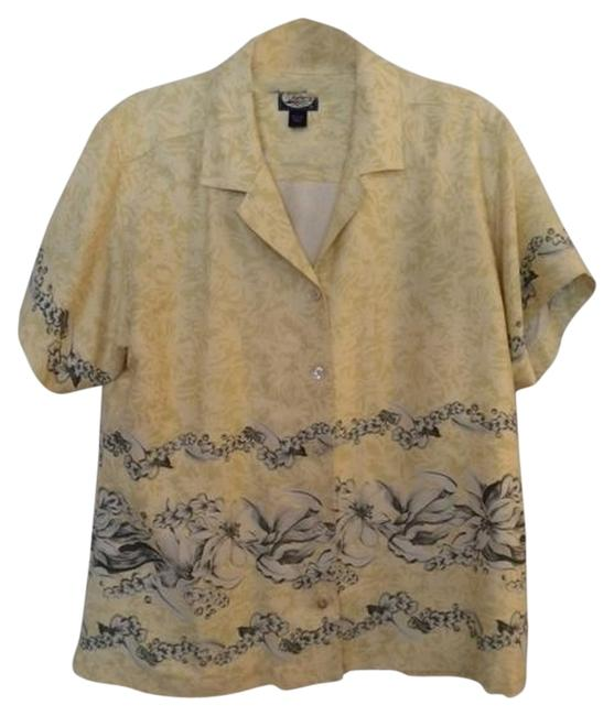 Preload https://item2.tradesy.com/images/tommy-bahama-yellow-vintage-highly-sought-large-silk-hawaiian-shirt-button-down-top-size-12-l-1042356-0-0.jpg?width=400&height=650
