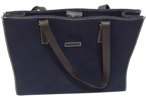 Dooney & Bourke Tote in Navy Blue, Brown