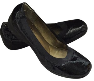 Hush Puppies Patent Leather Croc Crocodile Mocassin Black Flats