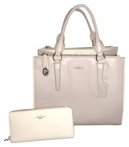 Coach Leather Satchel in Pave