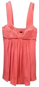 Black Halo Flowy Peach Sleeveless Empire Waist Top Coral