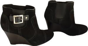Tory Burch Wedge Suede Black Boots