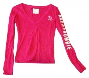 Abercrombie & Fitch T Shirt hot pink