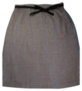 Ann Taylor Skirt Black, Cream
