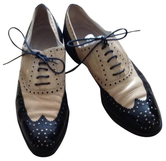 Chanel Oxford Vintage Oxford Beige And Black Flats