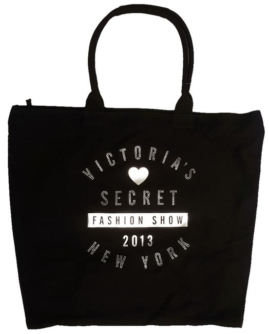 Item - Limited Edition 2013 Fashion Show Black and Silver Canvas Tote