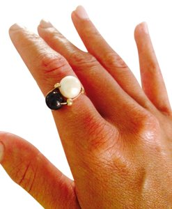 Handmade Fresh Water Pear Ring