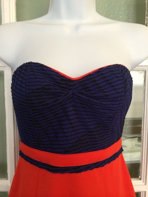 Silence + Noise Strapless Multicolor Color-blocking Dress