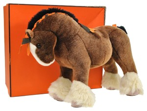 Hermès 100% AUTHENTIC HERMES HERMY PPM PLUSH HORSE TOY BROWN ACRYLIC ITALY VTG M10075