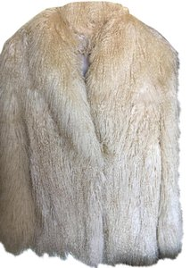 Other Vintage Mongolian Lamb Rare Find. Off White. Long Hair. Off White Jacket