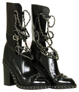 Chanel Runway Boot Chain Black Boots