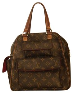 Louis Vuitton Satchel in Brown/ red interior