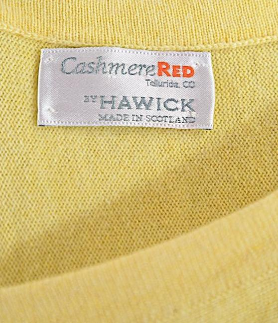 Hawick Cashmere Red Asymetrical Sweater