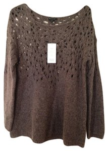 Eileen Fisher Mo-air Lace Italian Wool Sweater
