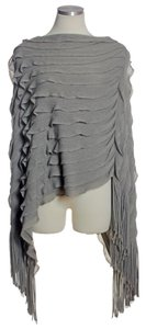 Anthropologie Layered Tassle Poncho Sweater