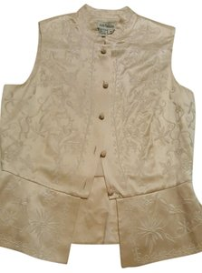 Ann Taylor Silk Embroidered Vest