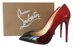 Christian Louboutin Pigalle Follies 100 100mm Red Ombre Degrade Patent Leather So Kate 120 120mm 35.5 Black Pumps