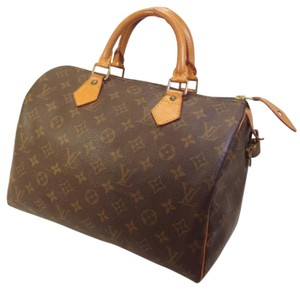 Gorgeous Authentic Louis Vuitton Speedy 30 Satchel in Brown/tan
