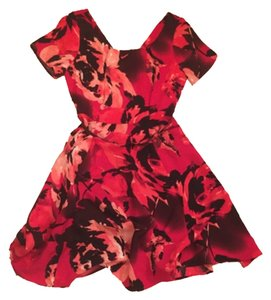 New York & Company short dress Red on Tradesy
