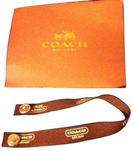Coach Coach BRAND NEW without tags Brown Fabric Snap Bracelet-SIZE MEDIUM -COACH JEWELRY CARD HOLDER INCLUDED-,Retail $68