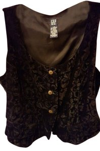 Gap Velvet Print Fitted Crushed Velvet Vest