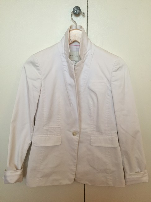 Banana Republic Women's Women's Cotton-stretch Women's Summer Light-weight White Blazer