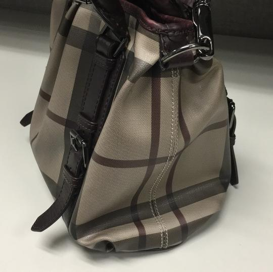 Burberry Satchel in Smoked Check/Brown