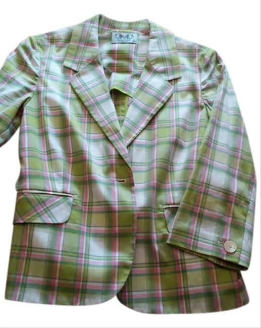 Preload https://item3.tradesy.com/images/juicy-couture-plaid-pink-white-green-blazer-1043042-0-0.jpg?width=400&height=650