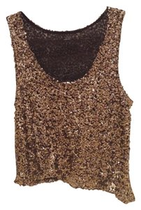 Millau Tank Sparkly Top Gold