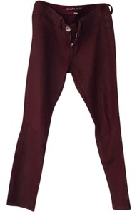Banana Republic Skinny Pants Dark red