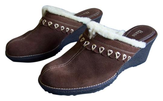 Preload https://item1.tradesy.com/images/bass-brown-suede-leather-with-sherpa-trim-mulesslides-size-us-8-regular-m-b-10430950-0-1.jpg?width=440&height=440