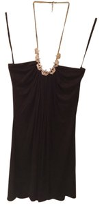 Sky Gold Chain Black Halter Top