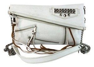 Rebecca Minkoff Leather Clutch Tassles Pockets Cross Body Bag