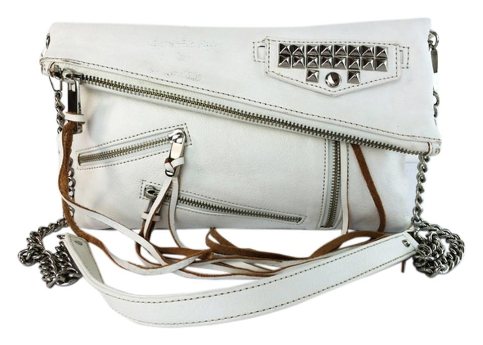 Rebecca Minkoff Leather Clutch Tassles Pockets Cross Body Bag Image 0 ... bf575804b2740