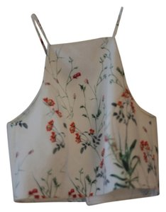 Zara Crop Floral Halter Top