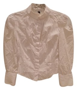 Diane von Furstenberg Blouse Button Down Shirt White