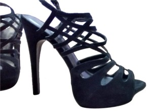 Charlotte Russe Ultra High High Heels Strappy Black Pumps