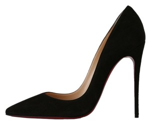 Christian Louboutin So Kate 120 Taupe Suede Chocolate Brown Pumps