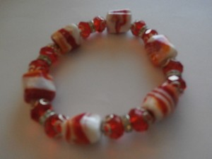 NEW FASHION BRACELET RED ELASTIC LARGE