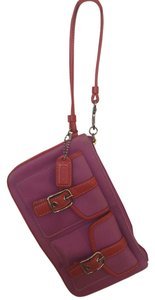 Coach Colorful Colorful Wristlet in Pink/Orange