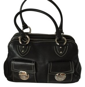 Marc Jacobs Leather Designer Handbag Tote in Black