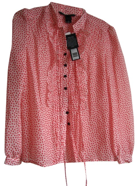 Preload https://img-static.tradesy.com/item/1043270/marc-jacobs-red-and-white-polka-dot-m143218-blouse-size-6-s-0-3-650-650.jpg
