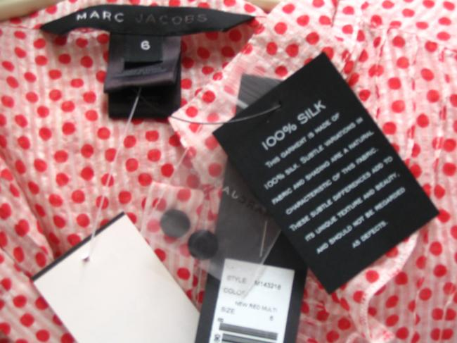 Marc Jacobs Silk Top Red and White Polka Dot