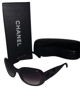 Chanel Chanel Oval Sunglasses in Dark Plum