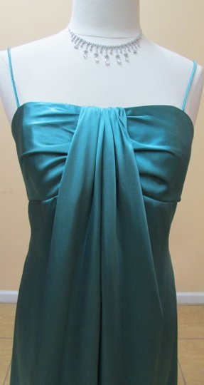 Alfred Angelo Lagoon Satin 7174 Formal Bridesmaid/Mob Dress Size 12 (L)