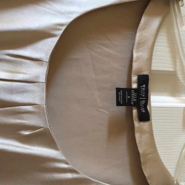 Whbm Silk stretch beige blouse. Matches skirt also listed. Like new condition. Top Beige