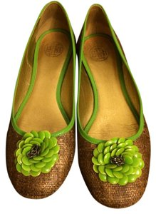 Tory Burch Green aand Bronze Flats