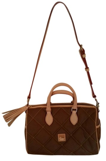 Preload https://item4.tradesy.com/images/dooney-and-bourke-lot-126843144-brown-quilted-canvas-satchel-10433608-0-1.jpg?width=440&height=440