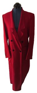 Red wool Feraud trench Trench Coat