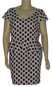 Urban Rose short dress White/Black on Tradesy